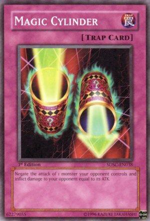 YuGiOh Trading Card Magic Cylinder SDSC EN038 1st Edition