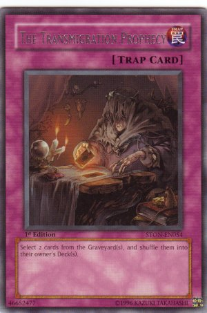 YuGiOh Trading Card The Transmigration Prophecy STON EN054 1st  Edition