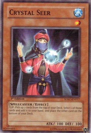 YuGiOh Trading Card Crystal Seer SDSC EN017 1st Edition