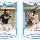 Tyler Kolodny/Logan Morrison Topps 2008 Baseball Trading Card