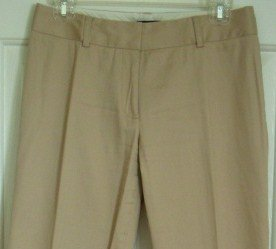 Kenneth Cole Low-Rise Tan Pants / Slacks, Size 4