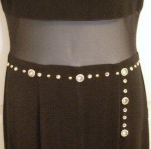 Black & Mesh Evening Jumpsuit/Dress/Pant, Size 8