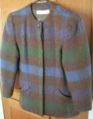 Vintage 70's Mohair and Worsted Wool Ladies Blazer / Jacket, Italy, Sz. 8