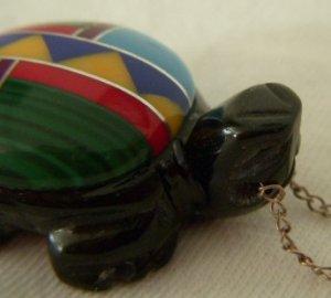 Zuni Multi-Stone Turtle Pendant