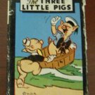 Vintage Walt Disney Three Little Pigs Miniture Card Game by Russell MFG., Circa 1946