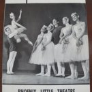 1962 Arizona Phoenix Little Theatre Souvenir Program, Swan Lake Ballet