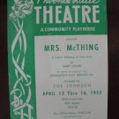 1955 Arizona Phoenix Little Theatre Souvenir Program, Mrs. McThing