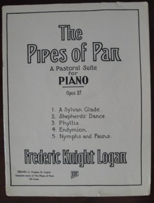 """Vintage 1916 """"The Pipes of Pan"""" Song Book for Piano by Frederic Knight Logan"""