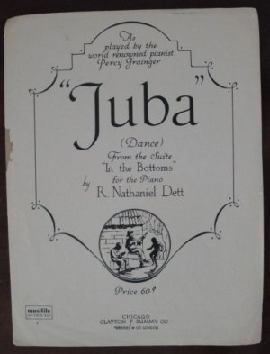 """Vintage 1941 """"Juba"""" from """"In The Bottoms"""" Sheet Music for Piano by R. Nathaniel Dett"""