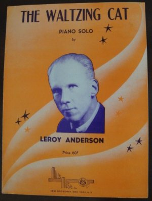 """Vintage 1951  """"The Waltzing Cat"""" Sheet Music for Piano by Leroy Anderson"""