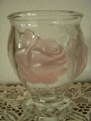 Teleflora Art Glass Vase Made in France