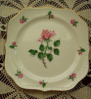 Homer Laughlin Eggshell Square Salad or Dessert Plate, 1930-1940's