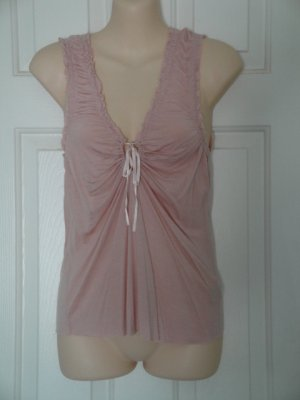 Anthropologie Free People Sleeveless Rose Colored Keyhole Top, Size S/P