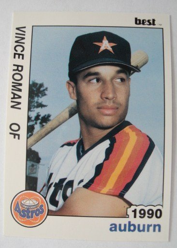 1990 Best Baseball Card, Vince Roman,  Astros
