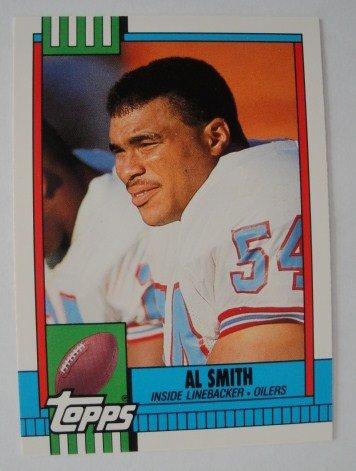 1990 Topps, Football Card, Al Smith,  Oilers