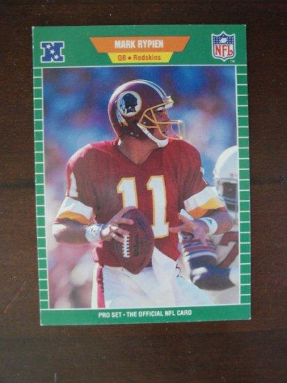 1989 NFL Pro Set Football Card, Mark Rypien, Redskins