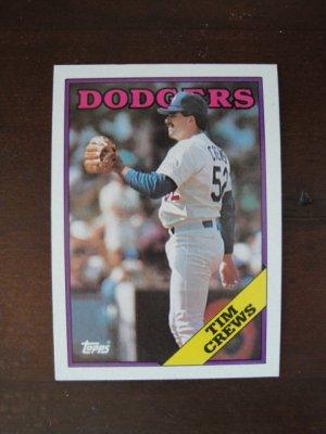 1988 Topps Baseball Card, Tim Crews, Dodgers