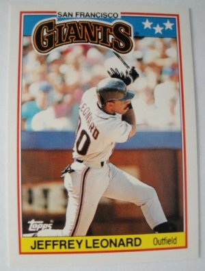 1988 Topps Mini Baseball Card, Jeffrey Leonard, S.F. Giants