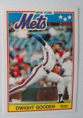1988 Topps Mini Baseball Card, Dwight Gooden, New York Mets