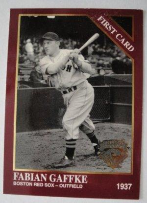 1994 Conlon First Card, Fabian Gaffke, Boston Red Sox