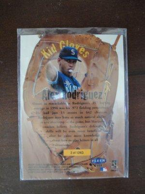 1997 Fleer Kid Gloves Baseball Card, Alex Rodriguez, Seattle Mariners