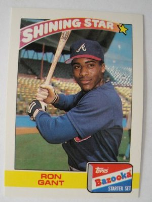 1989 Topps Bazooka Shining Star Baseball Card, Ron Gant, Atlanta Braves