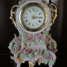 Rare Vintage Porcelain Wind-Up Shelf / Mantle Clock, Beebe California, 1940's