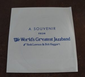 Vintage 1974 The World's Greatest Jazzband of Yank Lawson & Bob Haggart Souvenir 45 RPM