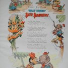 Walt Disney Elemer Elephant Silly Symphony Print from Book