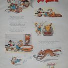 Walt Disney The Country Cousin Silly Symphony Print from Book