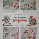 Walt Disney The Big Bad Wolf Silly Symphony Print from Book