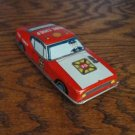 1960's Tin Litho Friction Fire Chief Car