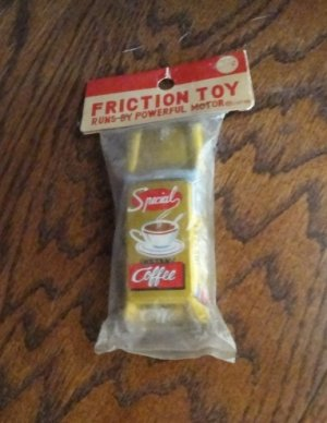1950's Tin Litho Friction Advertising Instant COFFEE Car
