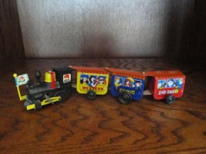 Classic Vintage ZIG ZAG COMIC EXPRESS Tin Wind-Up Train