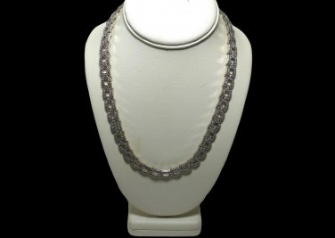 Kenneth Jay Lane Art Deco Pave Rhinestone Necklace for Avon Exc