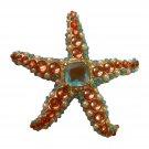 KJL Kenneth Jay Lane Starfish Pin Faux Gemstones Avon