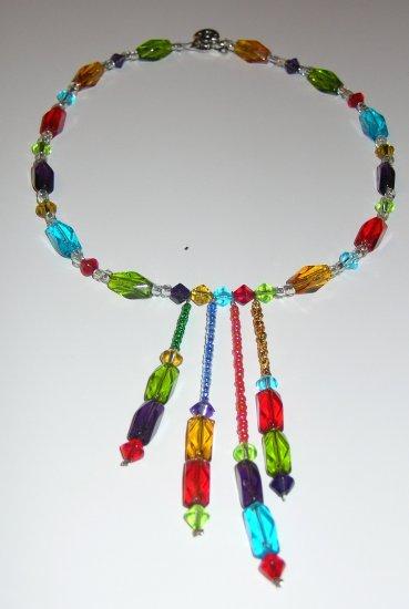 Kaleidoscope necklace and earrings