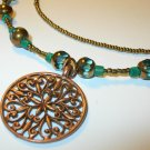 Aqua Necklace and earring set