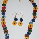 Button and earring necklace set