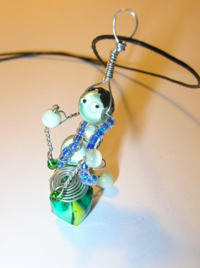 Drummer necklace charm