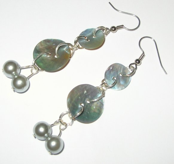 Shell and Pearl Earrings - the sea at your ears