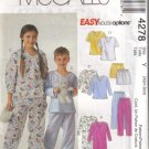 4278 McCalls Easy Endless Options  Boys-Girls Pajamas