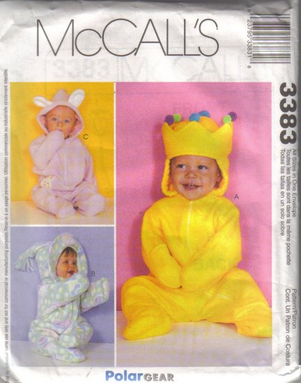 3383 McCalls Infants Buntings