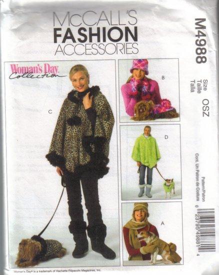 M4988 McCalls Fashion Acc.-Misses Outerwear & Pet Coats