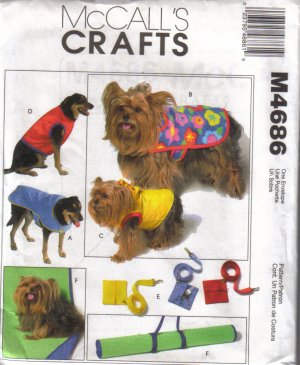 M4686 McCalls Crafts-Pet Gift Items