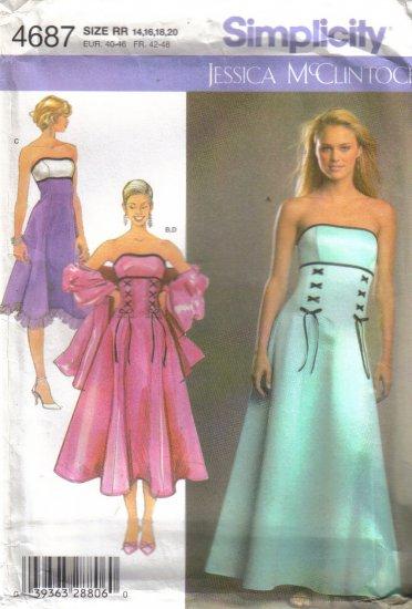 4687 Simplicity Jessica McClintock-Formal Dress & Gown