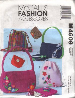 M4609 McCalls Fashion Accessories-Girls Backpacks and Bags
