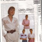 7558 McCalls Creative Womans Blouses