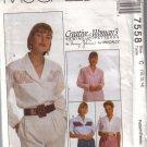 7558 McCalls Creative Womans Blouses