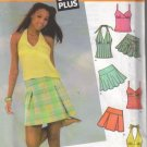4604 Simplicity Jr. Plus Mini Skirts & Tops